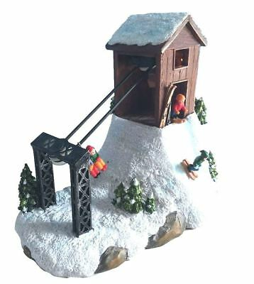 "St Nicholas Square ""ski Lift""  Motion  Light Up Retired  New * Free Shipping"
