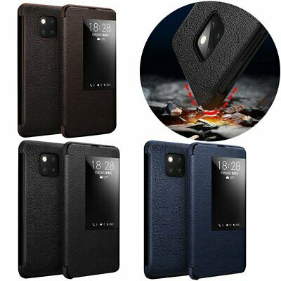 Xoomz Smart Flip Case Cover Bumper w/ View Window for Huawei Mate 20 Mate 20 Pro