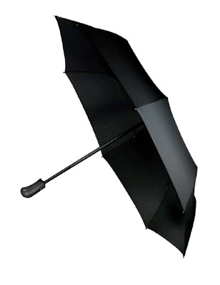 Water Repel w/One Touch Button Open & Close Umbrella Wind Proof Gun Metal Finish