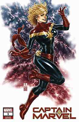 Captain Marvel 1 2019 Cms Mark Brooks Trade Variant Nm