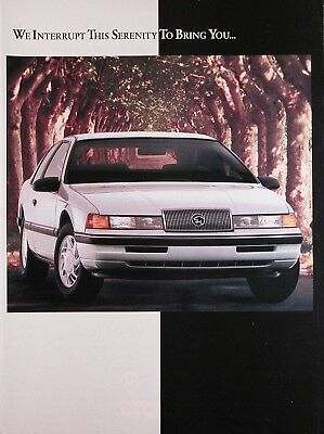 1989 MERCURY COUGAR Genuine Vintage Advertisement