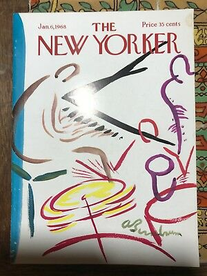 THE NEW YORKER Magazine Jan. 6, 1968 Great Cover & Great Ads