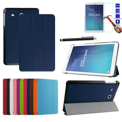 """For Samsung Galaxy Tab E 9.6"""" SM-T560 / T561 Tablet Leather Flip Stand Skin Case"""