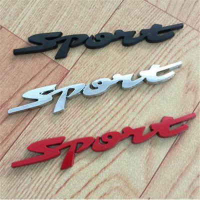 3D Metal Car Sticker with Sports Word Letter Chrome Emblem Badge Decal Popular
