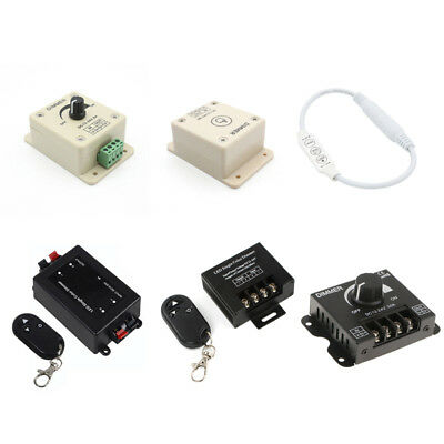LED Dimmer Switch Brightness Controller 8A/30A For Single Color LED Light Strip