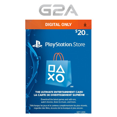 Playstation Network 20 CAD Code - PSN 20 CAD Dollar - PS4 PS3 -Store Card CANADA