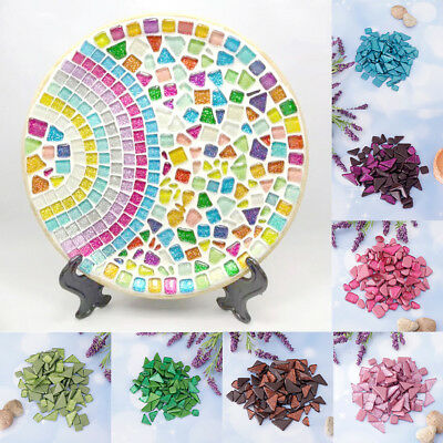 1400g Colorful Pretty Glitter Crystal Glass Pieces Mosaic Tiles Art Crafts