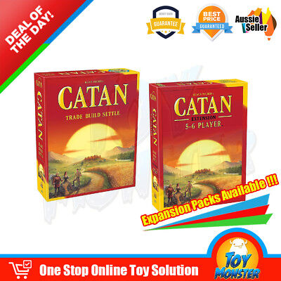 OZ Catan 5th Edition Trade Build Settle and 5-6 Player Extension Board Card Game