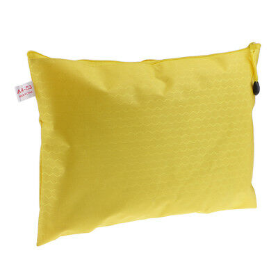 Waterproof Paper Bag Storage Bag Document Folder File Holder Zippered Yellow