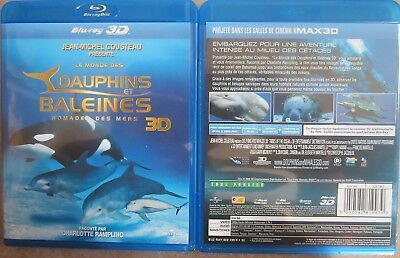 BLU RAY 3D 2D DAUPHINS ET BALEINES Nomade des mers Charlotte RAMPLING IMAX