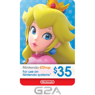 Nintendo eShop Gift Card 35 USD -$35 Digital Nintendo 3DS/Wii U/Switch[US ONLY]