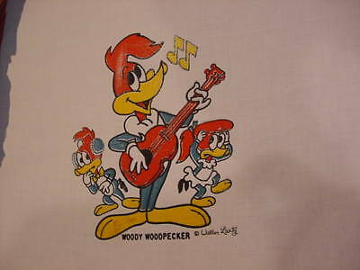 6 VINTAGE WOODY WOODPECKER Iron On Transfer sheets Guitar Music
