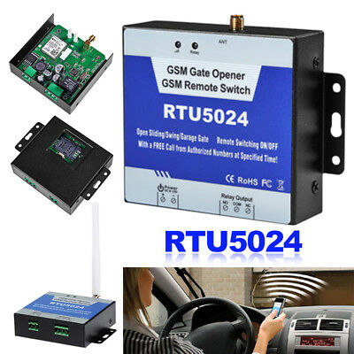 RTU5024 GSM Gate Opener Wireless Relay Switch Phone Remote Control Door Call SMS