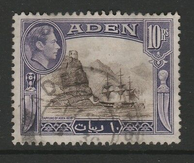 Aden 1939 10r Bright sepia and Bright violet CW 25a Good to fine used.