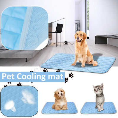 Pet Cool Gel Mat Dog Cat Bed Non-Toxic Polyester Cooling Dog Summer Pad Cushion