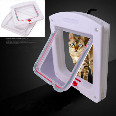 Dog Cat Flap Doors with 4 Way Lock for Pets Kitten Entry & Exit-Lockable Safe