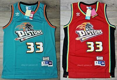 Grant Hill #33 Detroit Pistons Rookie 1994-95 Throwback Jersey - Red / Green