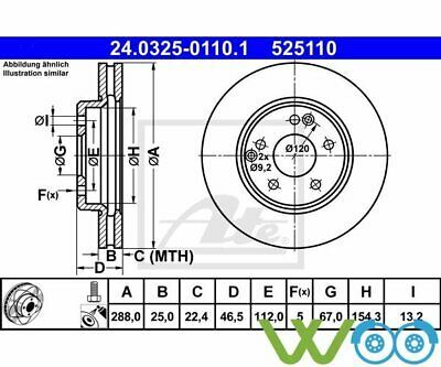 2 St. ATE POWER DISC DB 0325-0110 24.0325-0110.1