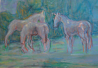 Stunning Pastel/Paper by Canadian Artist Freda Pemberton-Smith(1902-1991), Nice!
