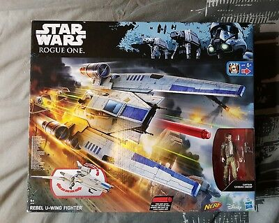Star Wars: Rogue One Hasbro: Rebel U-Wing Fighter Vehicle with Figure New