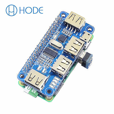 4 Port USB HUB HAT Expansion Board Raspberry Pi 3 Model B /Zero V1,3/Zero W UK