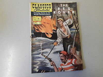 CLASSICS ILLUSTRATED COMIC No. 114 The Red Rover -  1/- HRN 115