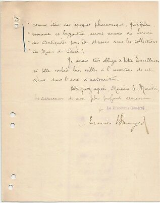 EGYPT ÄGYPTEN 1905 LETTER SIGNED BY Germany Egyptologist Émile Brugsch LOT 1