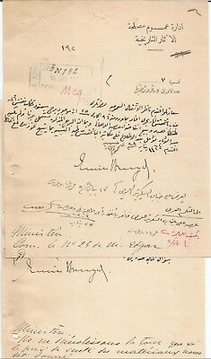EGYPT ÄGYPTEN 1909 2 LETTERS SIGNED BY Germany Egyptologist Émile Brugsch LOT 3