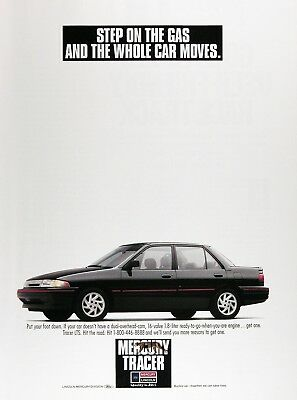 1991 MERCURY TRACER LS Original Vintage Advertisement