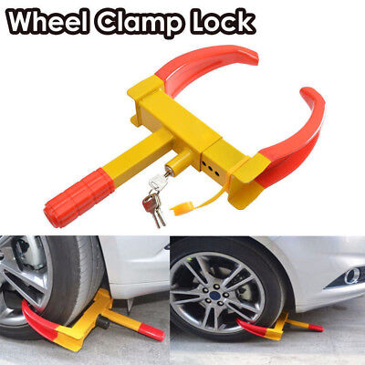 Steel Car Van Wheel Clamp Safety Lock for Car caravan Trailer With 3 Keys Adjust