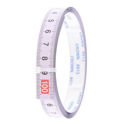 Woodworking Tool Metric Track Tape Measure Self Adhesive 1M-0-1M Read Middle