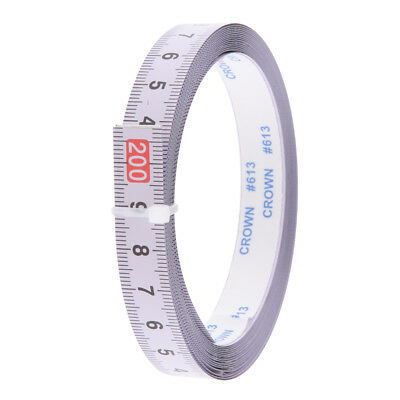 Woodworking Tool Metric Track Tape Measure Self Adhesive 2M-0-2M Read Middle