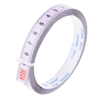 Woodworking Tool Metric Track Tape Measure Self Adhesive 300cm R to L Reads