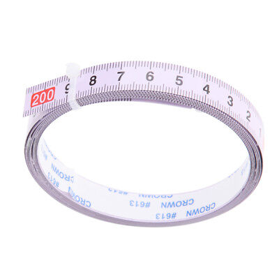 Woodworking Tool Metric Track Tape Measure Self Adhesive 2M, R to L Reading