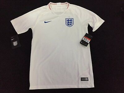 f3045537900 OFFICIAL NIKE ENGLAND Home Shirt 2018-19 Age 12-13 Kids Marked -5 ...
