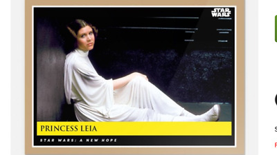 Topps Countdown Episode 9 Star Wars A New Hope Galactic Moments Princess Leia #7