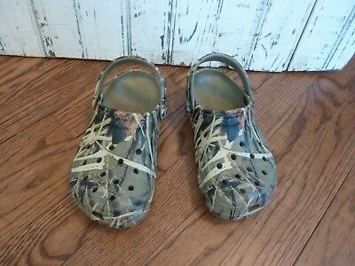 1aabf3a2a263ef CROCS Realtree CAMO camouflage Clogs Roomy Fit Boys Kids Youth size J1   W3