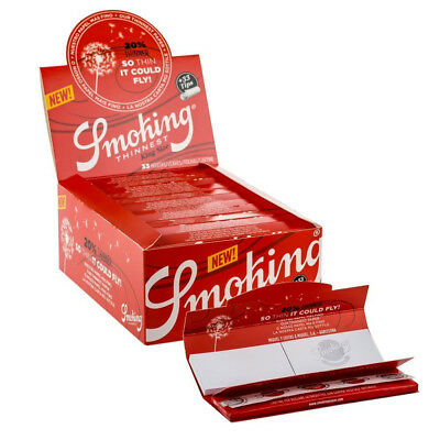 3 Boxen Smoking RED King Size Papers 150 Heftchen x 33 Blättchen Long Papers