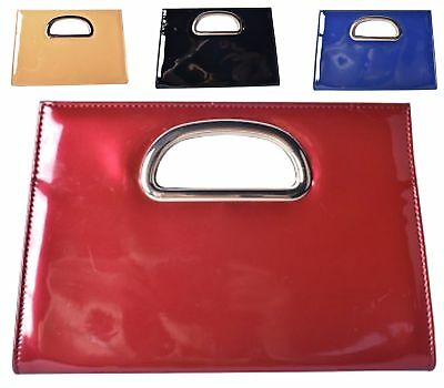 Fashion Women's Patent Leather Clutch Bag Ladies Evening Prom Handbag Tote Bags
