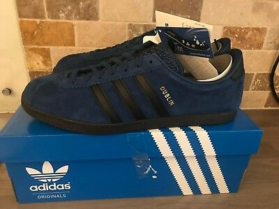 brand new f2e79 9662d Rare Adidas Trainers Dublin Taiwanese Navy Blue Black Size UK 8.5