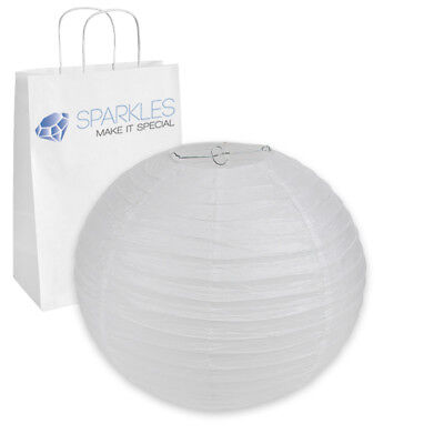 """16"""" inch Chinese Paper Lantern - White - Wedding Party Event Decoration fz"""