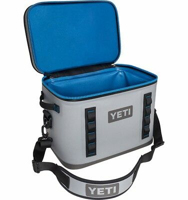 Brand New YETI Hopper Flip 18 Soft Cooler Fog Gray Tahoe Blue - Waterproof