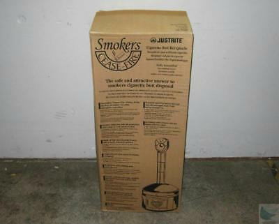 NEW JustRite Smoker's Cease Fire 26800 Cigarette Receptacle - PICK UP ONLY