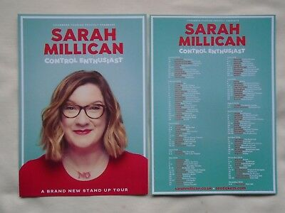 "SARAH MILLICAN Live ""Control Enthusiast"" UK & Ireland Tour 2018 promo flyers x 2"