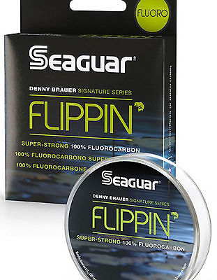 Seaguar Flippin' Fluorocarbon Clear Fishing Line 100 Yards Flf100 Select Lb Test