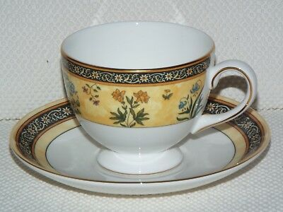 Wedgwood Bone China INDIA Leigh Shape CUP & SAUCER Unused Made in England
