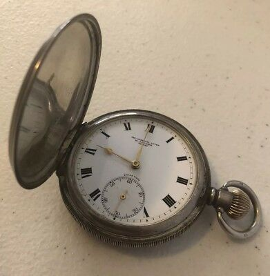Antique Sterling Silver Pocket Watch - Marc Jacobs 1800s Works Perfectly RARE!!