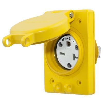 Watertight Receptacle,20A,6-20R,250V HUBBELL WIRING DEVICE-KELLEMS HBL60W48