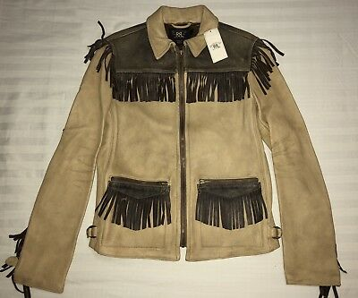 ee28f25564  1200 RRL Ralph Lauren Double RL Women s Distressed Leather Jacket 2 Small