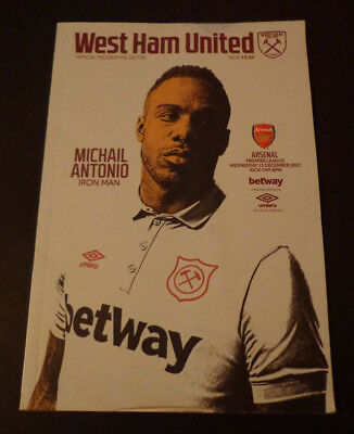 West Ham United v Arsenal - Official Matchday Programme - 2017/2018